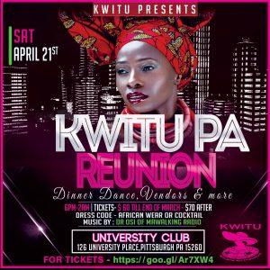 Kwitu PA Reunion Dinner Dance @ The University Club | Pittsburgh | Pennsylvania | United States